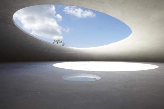 Modern museum design, Japan contemporary art space, Ryue Nishizawa, Benesse Art Site, Rei Naito Matrix, art installation, design based on elements,green museum, Japan museum,
