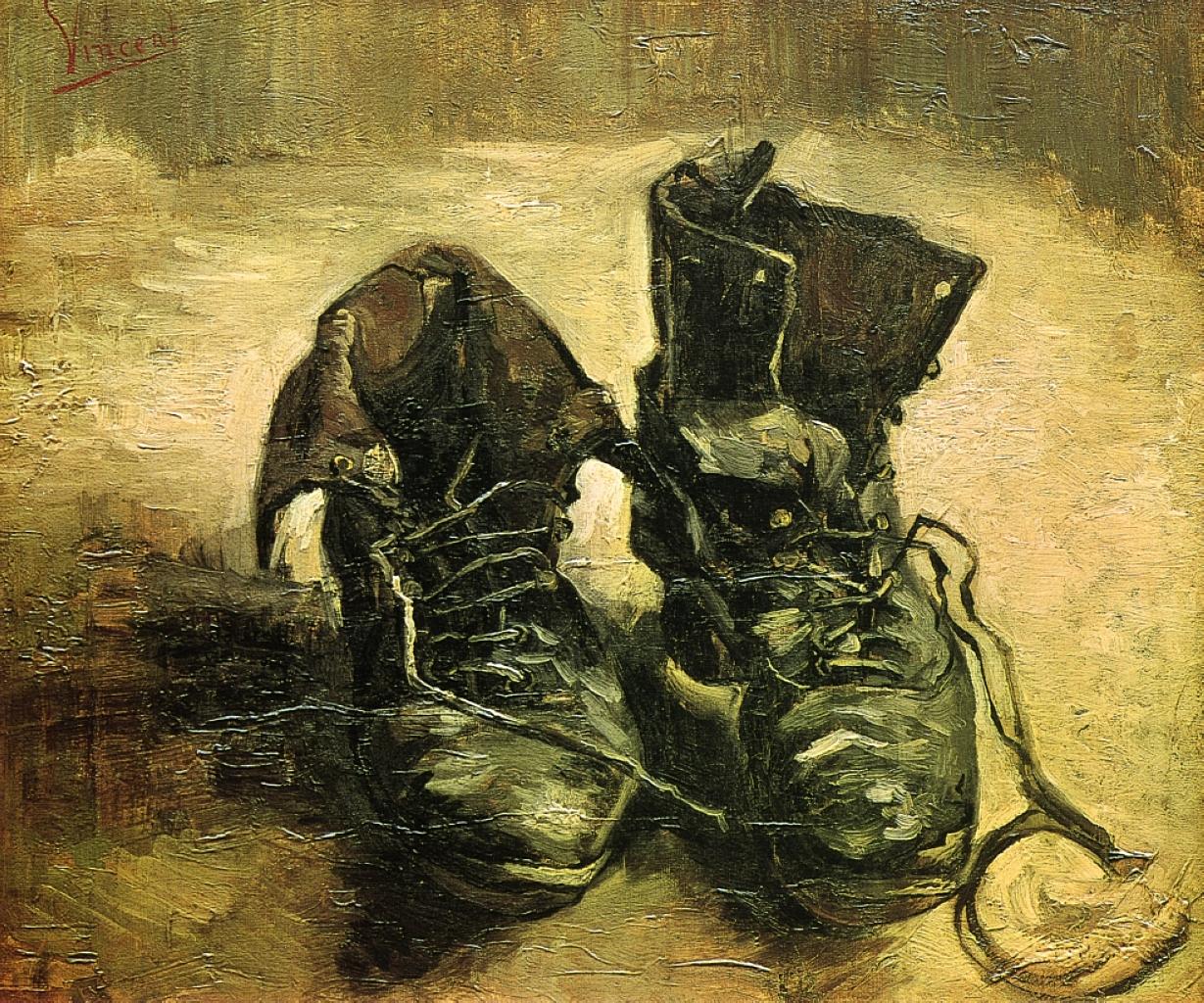 حذاء فان غوخ وأصل العمل الفني